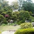 御殿から見た池庭