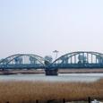 伊勢大橋,河口堰と展望台