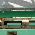伊勢大橋の歩行者通路からみた川面