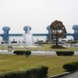 長良川河口堰と親水公園