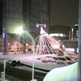 雪の桑名駅前