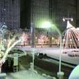 桑名駅ロータリーの雪景色