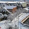 雪の煉瓦倉庫