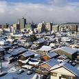 雪の桑名市街