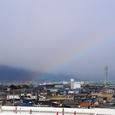 多度山にかかる虹