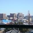 円妙寺山門からみた桑名駅方面